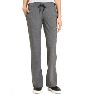 NWT Athleta Gray Tie Waist Midtown Wool Trousers